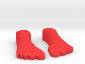 """1/10 SCALE FIVE FINGER SHOES """"IT'S A LIFE STYLE"""" in Red Processed Versatile Plastic: 1:10"""