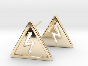 High Voltage Earrings in 14k Gold Plated Brass