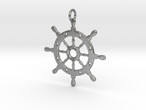Door County Sailboat Wheel in Natural Silver