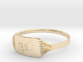 "Ring ""Eagle"" in 14K Gold"