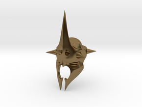 Witchking of Angmar Helmet (LEGO compatible) in Polished Bronze