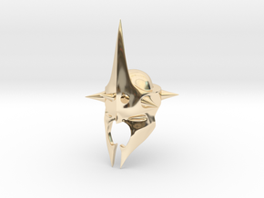 Witchking of Angmar Helmet (LEGO compatible) in 14K Yellow Gold