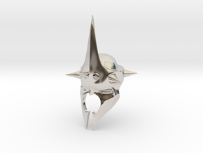 Witchking of Angmar Helmet (LEGO compatible) in Rhodium Plated Brass