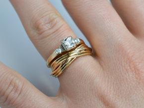 Turk's Head Knot Ring -- Size 6 1/4 in 18K Gold Plated