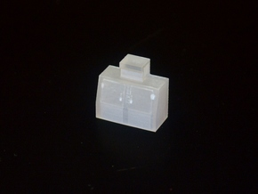 HO-Scale Slant Double Door Ice Cooler in Smooth Fine Detail Plastic