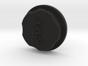 Mustang Coolant Tank Cap Cover - SVT in Black Natural Versatile Plastic