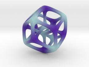Halftone Hypercube in Full Color Sandstone