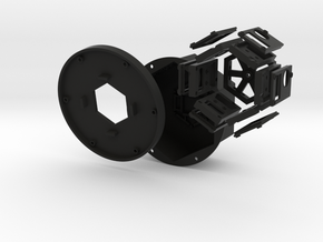 6-Camera Rig With Covers in Black Natural Versatile Plastic
