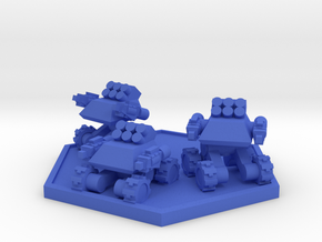 Colour Rim Bastion Infantry Support Drone Team in Blue Processed Versatile Plastic