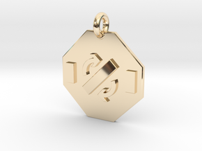 Pendant Faraday's Law in 14k Gold Plated Brass