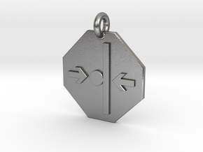 Pendant Newton's Third Law in Natural Silver