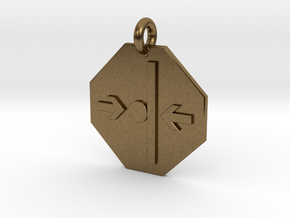 Pendant Newton's Third Law in Natural Bronze