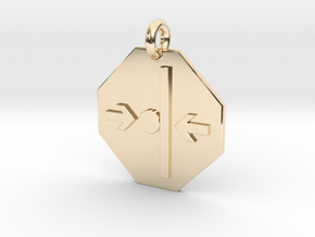 Pendant Newton's Third Law in 14k Gold Plated Brass