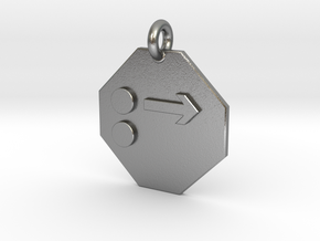 Pendant Newton's First Law in Natural Silver