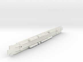 D&RGW Diner Chassis in White Natural Versatile Plastic