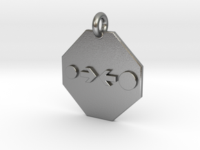 Pendant Newton's Law Of Gravitation in Natural Silver