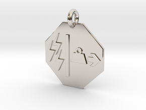 Pendant Mass Energy Equivalence in Rhodium Plated Brass