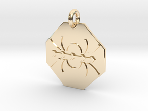 Pendant Ampères Law in 14k Gold Plated Brass