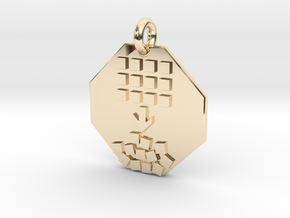Pendant Entropy in 14k Gold Plated Brass