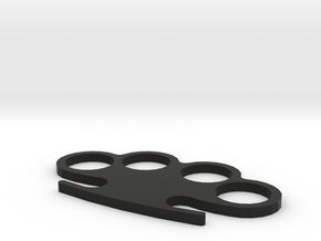 Knuckle-Duster in Black Natural Versatile Plastic