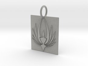 Phoenix Keychain in Metallic Plastic