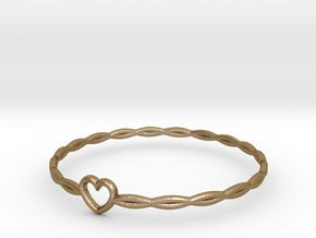 Bracelet in Polished Gold Steel