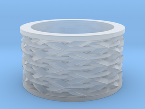 Basketweave Ring in Smoothest Fine Detail Plastic: 13 / 69