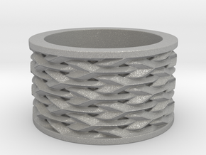 Basketweave Ring in Aluminum: 13 / 69