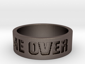 Game Over Ring in Polished Bronzed Silver Steel: 13 / 69