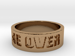 Game Over Ring in Polished Brass: 13 / 69