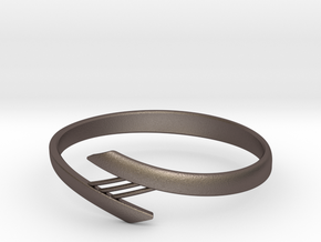 Bridge Bracelet in Polished Bronzed Silver Steel: Large