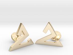 Delta One Cufflinks in 14k Gold Plated Brass