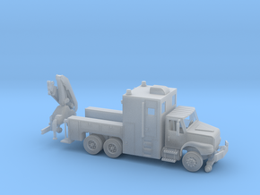 MOW Rail Truck With Hoist 1-87 HO Scale   in Smooth Fine Detail Plastic