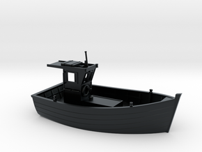 HObat10  - Small boat in Black Hi-Def Acrylate