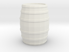 Printle Barrel (Medium) in White Strong & Flexible