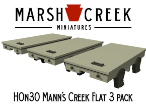 HOn30 Mann's Creek Flatcar 3 pack in Smoothest Fine Detail Plastic