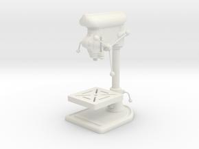 Drill Press - 1/10 in White Natural Versatile Plastic