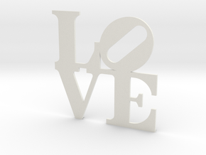 LOVE Sculpture wall decoration in White Natural Versatile Plastic