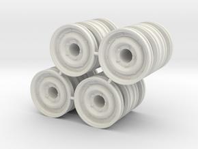 Dually Rim Front/Rear in White Natural Versatile Plastic