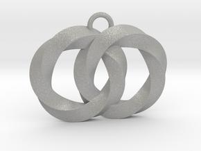 Twisting Planets Pendant  in Aluminum