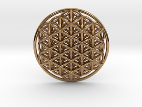 3d Flower Of Life in Polished Brass