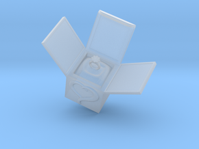 Box Ring  Jewelry (Smaller Size) in Smooth Fine Detail Plastic: Small
