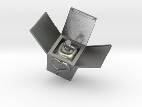 Box Ring  Jewelry (Smaller Size) in Natural Silver: Small