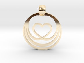 Waves of Love in 14k Gold Plated Brass