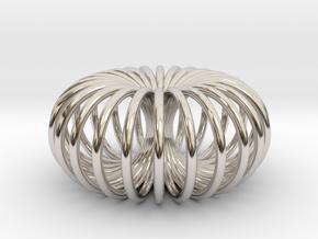 Torus pendant small in Platinum