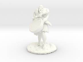 Ourok, Half-Orc Bard in White Processed Versatile Plastic