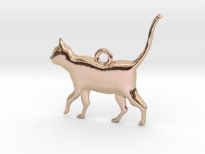 Schrödinger's Cat Pendant in 14k Rose Gold Plated Brass