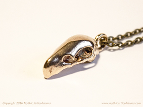 Terrorbird Skull Pendant in Raw Bronze