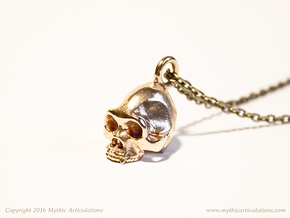 Sasquatch Skull Pendant in Raw Bronze