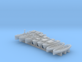 1/700 WW2 RN Boat Set 4 with Mounts in Smoothest Fine Detail Plastic